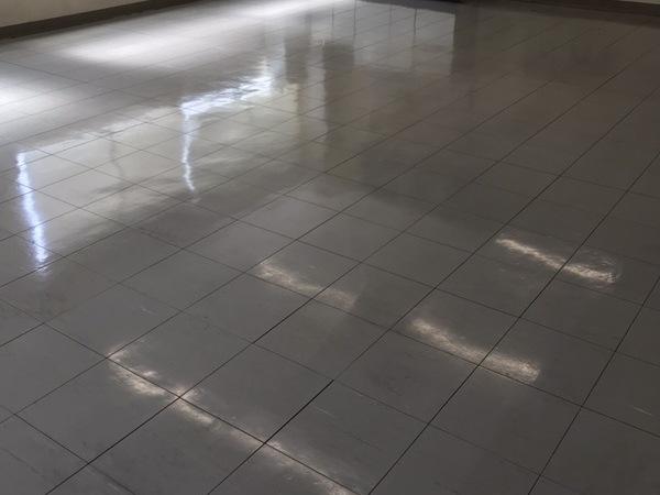 床面洗浄&ワックス塗布